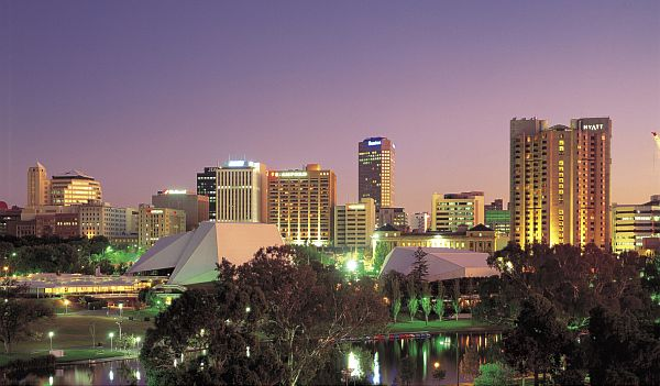 Adelaide City Skyline at Dusk