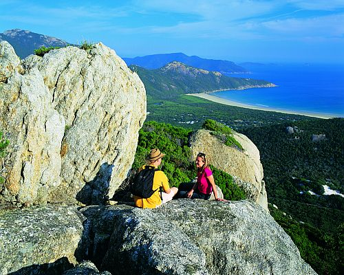 Hikers at Mount Bishop, Wilsons Promontory