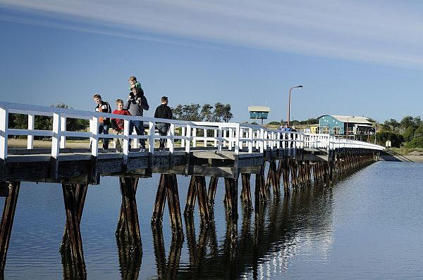 People on the pier at Lakes Entrance