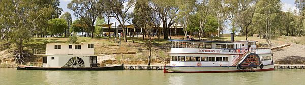 Paddle steamers outside Trentham Estate Winery, Mildura