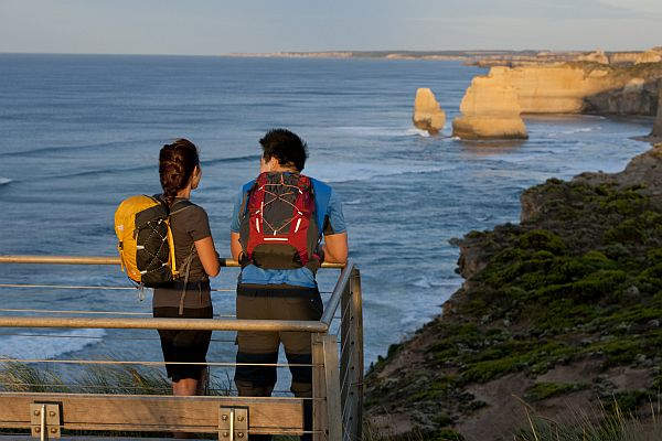 Twelve apostles from the viewing platform