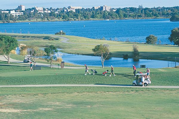 Burswood Golf Course and the Swan River