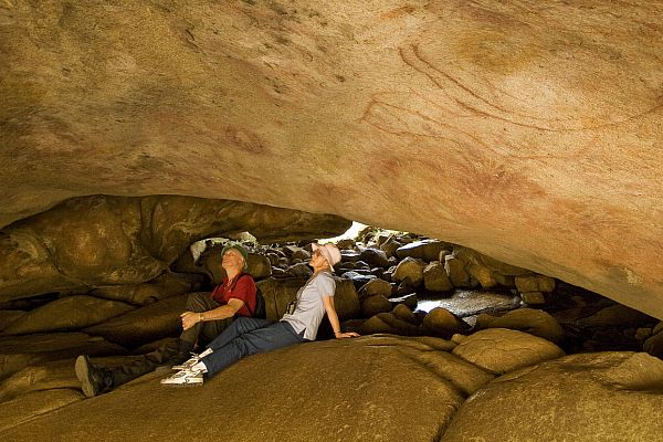 Mulka's Cave, located 18km north of Wave Rock