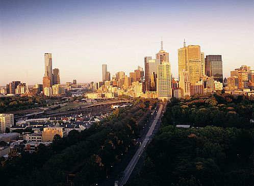 View of Melbourne city skyline