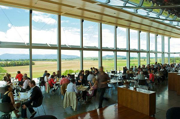 Diners at Yering Station in the Yarra Valley