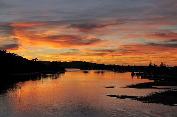 Sunset over Lakes Entrance