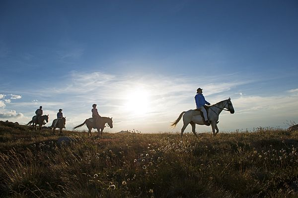 Horse riding at Mount Stirling