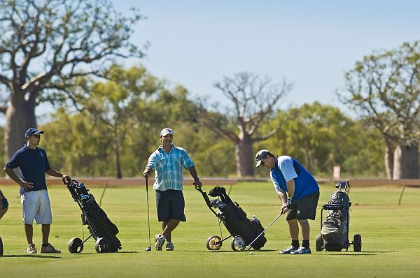 Players on the Derby Golf Course