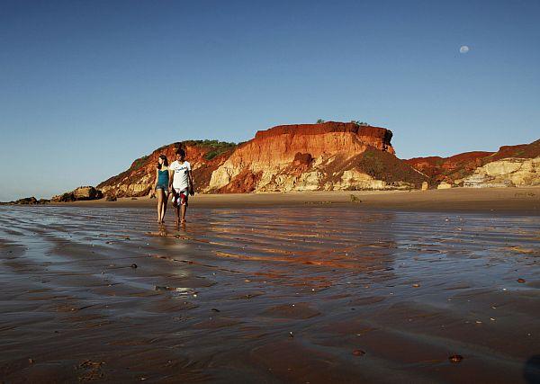 Couple on the beach at Goombaragin