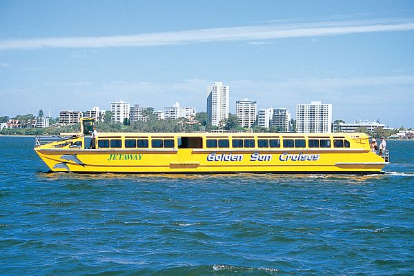Golden Sun Cruises boat on the Swan River
